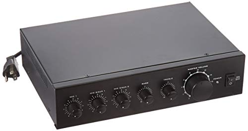 Monoprice Commercial Audio 60W 2 channel amplifier / 3 channel mixer - 100/70V Mixer Amp