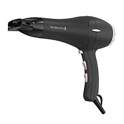 Remington Pro Hair Dryer with Pearl Ceramic Technology, Black/Pink, AC2015
