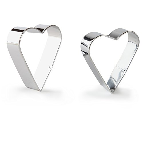 Bakerpan Stainless Steel Cookie Cutter Hearts Set of 2
