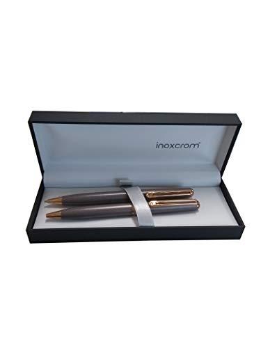 Inoxcrom WS Elegance - Juego de bolígrafo y portaminas, color chocolate
