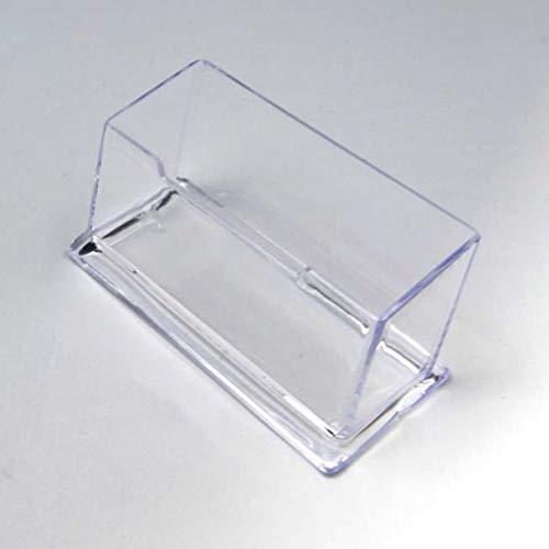 Soporte de exhibición de almacenamiento de estante de escritorio transparente Soporte de tarjeta de visita de oficina de alta capacidad de escritorio de plástico acrílico - Transparente