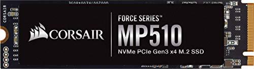 Corsair MP510, Force Series, 4TB M.2 NVMe PCIe x4 Gen3 SSD (Lesegeschwindigkeitenvon bis zu 3.480 MB/s sowie sequenziellen Schreibgeschwindigkeiten bis 2.000 MB/s, Hochdichter 3D TLC NAND) Schwarz