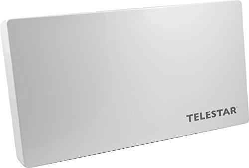 Telestar 5109473 Digiflat Air Sat auf IP Flachantenne für 10 Teilnehmer (2 x Legacy, 1 x LAN, Fenster-Wand/Masthalterung, Montagewerkzeug) weiß
