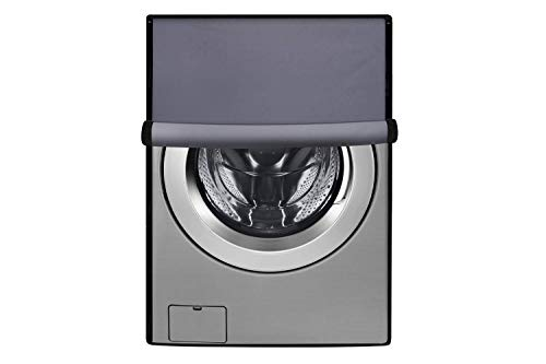 Delcy Front Load Washing Machine Full Waterproof Cover for All Brand Size 6 kg to 9 kg (Grey)