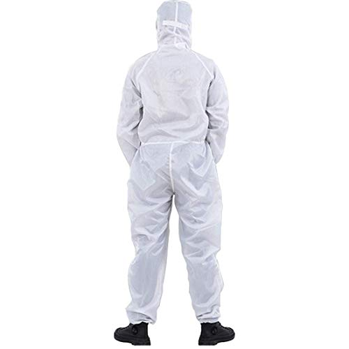 2 delige set van anti-statische kleding, overall, overalls, Pharmaceutical Workshop Dust-Proof Jumpsuit, Food Factory beschermende isolatie Gown,White,XXXL