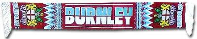 BURNLEY Écharpe pour fans de football (100 % acrylique).