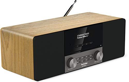 TechniSat DIGITRADIO 3 - Stereo DAB Radio Kompaktanlage (DAB+, UKW, CD-Player, Bluetooth, USB, Kopfhöreranschluss, AUX-Eingang, Radiowecker, OLED Display, 20 Watt RMS) eiche