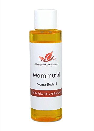 Naturprodukte Schwarz - Mammutöl Aroma Badeöl - Mit Teufelskralle und Beinwell, 100ml