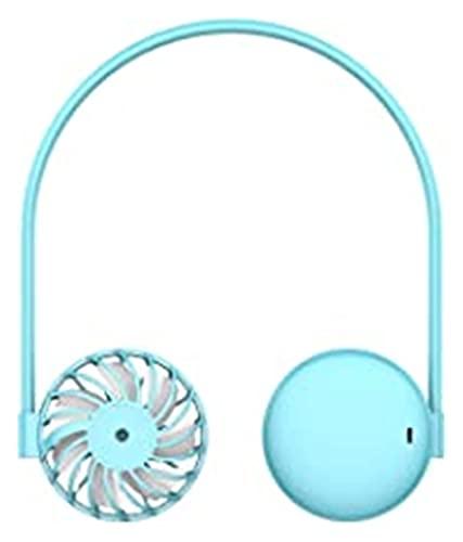 Nawxs Ventilador de Cuello Colgante Ventilador Perezoso Portátil Mini Ventilador Luces de Colores Recargables Ventilador Deportivo al Aire Libre