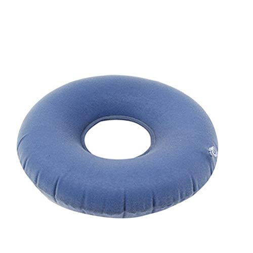 YMYGCC Seat Cushion Air Inflatable Vinyl Ring Seat Cushion Hemorrhoid Pillow Effective Pain Relief Massage Inflatable Seat Pad With Pump 91 (Color : Blue)