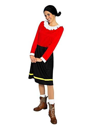 Maskworld Olivia Öl - die Freundin von Popeye - Kostüm für Erwachsene - einteilig - Karneval (L)