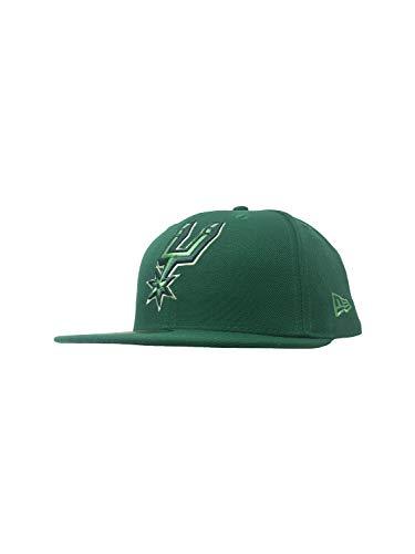 New Era San Antonio Spurs 59Fifty Fitted Hat NBA Basketball Straight Brim Baseball Caps (7 3/8, NBA Alpha Triple), Green League Pop, 7  3/4