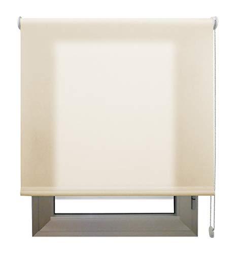 Decorestor Estor Translucido Premium A TU Medida, Desde 40 a 280 cm de Ancho. Permite Paso de Mucha luz y conserva tu intimidad. Color Arena. Estores traslucidos de Calidad para Ventanas y Puertas.