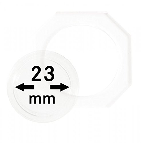 LINDNER Das Original Capsules numismatiques OCTO Ø 23 mm, Paquet de 2