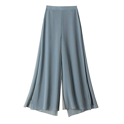 Pantalones Casuales de Pierna Ancha Suelta de Color sólido para Mujer Pantalones de harén Deportivos de Playa de Yoga Salvaje de Verano