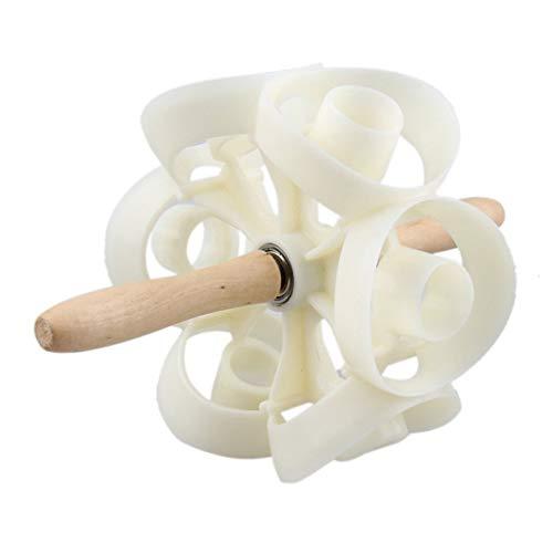 Schnell drehende Donut Cutter Maker Mold Kunststoff-Spritzgießmaschinen Gebäck Teig Backrolle Sicherheit Küche Tool-beige (BCVBFGCXVB)