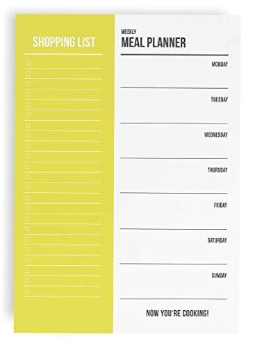Essensplaner Einkaufsliste A5 Block / 50 Seiten - Meal Planner Shopping List