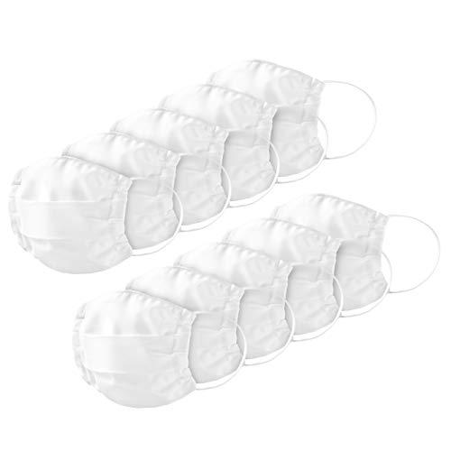 KIMENGO Mundschutz Maske waschbar [10 STK.] 100% Baumwolle I Stoffmasken Mundschutz wiederverwendbar mit Filter Einschubtasche I Schutzmaske Gesichtsmaske Baumwollmaske Stoffmasken Mundschutz
