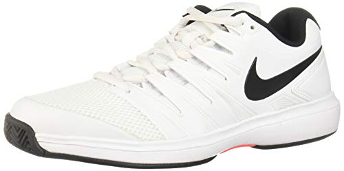 Nike Air Zoom Prestige HC, Chaussures de Tennis Homme, Mehrfarbig White Black Bright Crimson 106, 36 2/3 EU