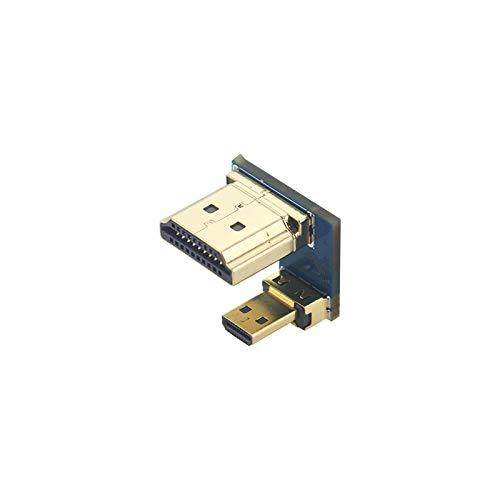 ILS Catda C1924 Adaptador HDMI Macho a Micro HDMI Macho Conversor de Alta Velocidad Conector para Raspberry Pi 4B