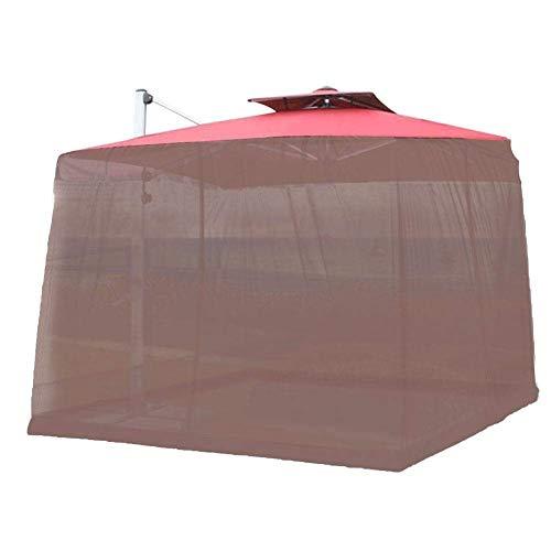 Paraguas de jardín al aire libre Su sombrilla en un mirador Al aire libre Mosquitera Patio Paraguas Mosquitera Screen Screen UV Resistente al Gazebo Estilo Mosquito Netificación para patio exterior Ca
