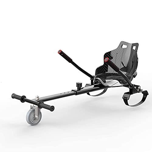 Hoverkart, Accesorio De Scooter Autoequilibrado, Go Kart Compatible con Todos Los Hoverboards, Longitud Ajustable, con Scooter Eléctrico De 6.5, 8, 10 Pulgadas, Regalo para Niños