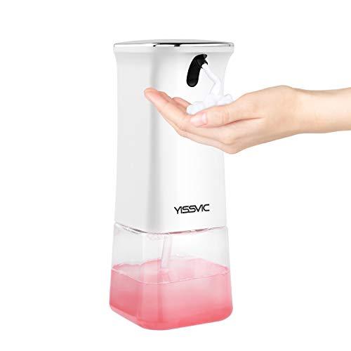 YISSVIC Dispensador de Jabón Automático 350ml Sensor Sin Contacto Dispensador Inteligente Impermeable IPX4 para Baño, Cocina ect.