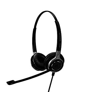 Sennheiser Consumer Audio SC 660 USB ML (504553) - Double-Sided Business Headset   For Skype for Business   with HD Sound, Ultra Noise-Cancelling Microphone, & USB Connector (Black)
