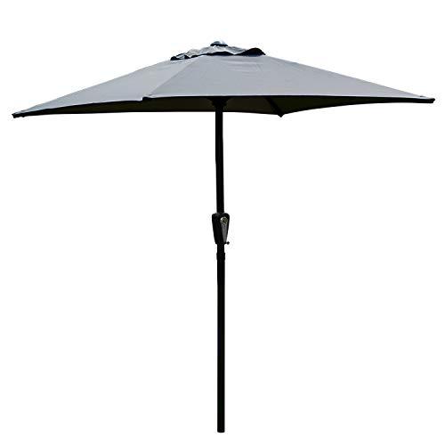 Novonova 210x150cm Ombrellone da Giardino | Parasole da Esterno Balcone da Giardino | Protezione Solare UV50+ | Regolabile in Altezza | PS416 Grigio