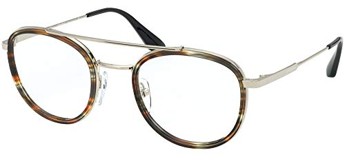 Brillen Gafas de Vista Prada CONCEPTUAL PR 66XV STRIPED BROWN 49/22/140 Herren