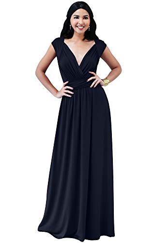 KOH KOH Womens Cap Short Sleeve Elegant Cocktail Evening Gown