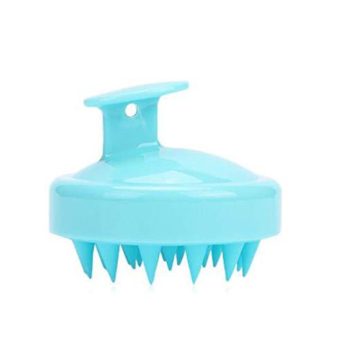 YUY Masajeador champú cepillo de silicona limpio cuero cabelludo multifuncional seco húmedo doble propósito portátil duradero antideslizante cómodo manual baño doméstico