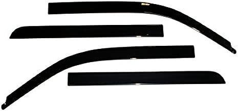 Auto Ventshade 894011 Low Profile Dark Smoke Ventvisor Side Window Deflector, 4-Piece Set for 2009-2014 Ford F-150 SuperCrew | Also fits 2011-2014 Raptor SuperCrew