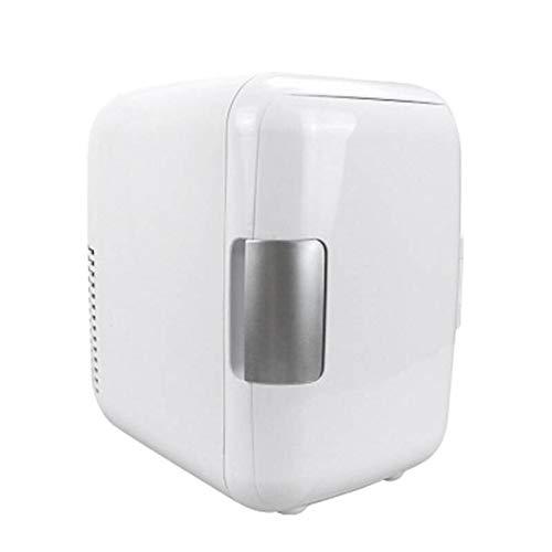 ZLININ Refrigerador de coche 4L 12V/220V eléctrico portátil mini refrigerador refrigerador congelador coche hogar (blanco #) (nombre del color: blanco)