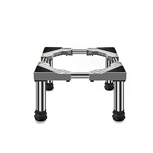 YANJ Washing Machine Base Shock Absorption Adjustable Wine Cooler Stands Pedestal Length/Width 45-65cm Dryer and Refrigerator Base Tray High Rack Stainless Steel Stent - 400kg