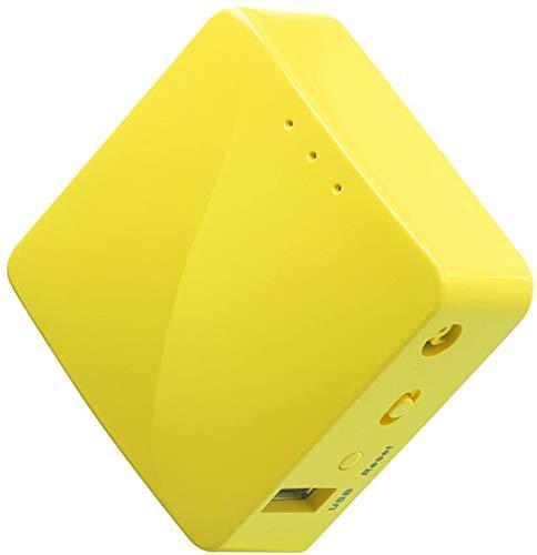 Wireless Mini Portable Travel Router, Mobile Hotspot in Pocket, WiFi Repeater Bridge, Range Extender, OpenVPN Client, 300Mbps High Performance, 128MB RAM
