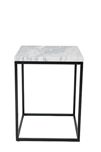Zuiver Beistelltisch Marble Power, weiß, 32 x 32 x 43 cm