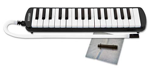 Bontempi 33 3250 - Diamonica 32 note con voci in metallo, Strumento a fiato, Borsa in dotazione, Nero/Bianco