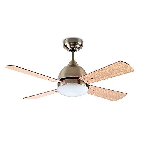 Ventilador de techo modelo BORNEO cuero satinado y mando a distancia incluido LEDS C-4
