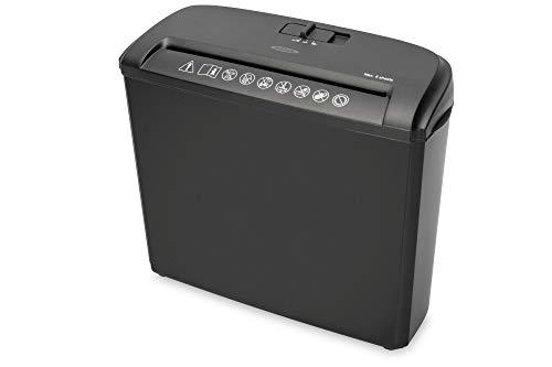 ednet Akten-Vernichter S5 - Streifenschnitt 7 mm - Bis zu 5 Blätter - 7 l Abfall-Behälter - Sicherheitsstufe P1