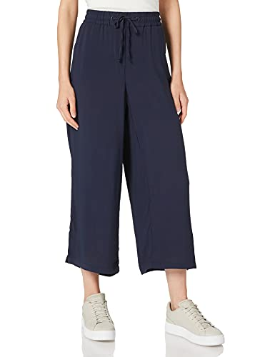 Cecil Damen Wide Legs Hose, deep Blue, S/L24