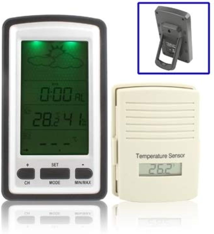 en promociones de estadios Shengjuanfeng Reloj de de de la Pantalla LCD de la estación meteorológica inalámbrica con Calendario perpetuo Temperatura Humedad Sensor Remoto pronóstico del Tiempo Tendencia Alarma retroiluminación LED  ahorra hasta un 70%