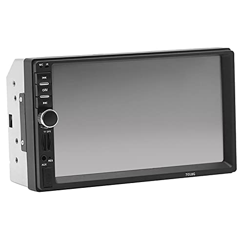strimusimak Coche MP5 Player Navegación GPS Pantalla Táctil De 7 Pulgadas Radio Audio Estéreo Control Remoto Bluetooth Fácil Instalación para Conducir Negro