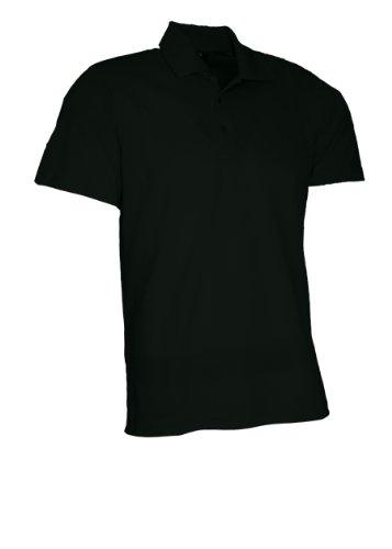 Maier Sports Polo pour Homme S,M,L,XL,XXL Noir