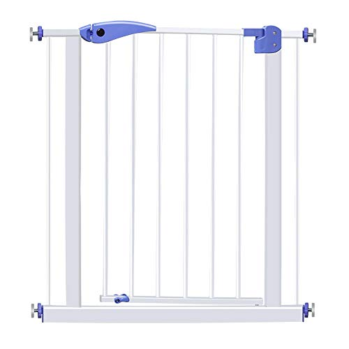 Xyanzi- Pressure Fit Safety Gate Baby Fence,Safety Gate Plastic Expandable Baby Pet Safety Gate with Pressure Mount with 26-29'/30-33' Extension Ideal for Kids and Pets (Size : 75-84cm)