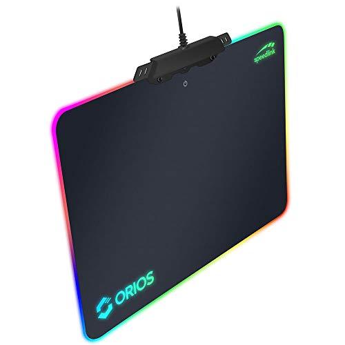 Speedlink ORIOS RGB Gaming Mousepad professionelles Gaming-Mauspad mit RGB-Beleuchtung - schwarz