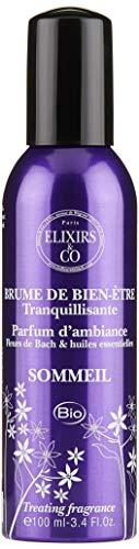 Elixirs & Co 01080034 Brume de Bien-Être Sommeil, Fleurs de Bach, Huiles Essentiales, Bleu, 100 ml