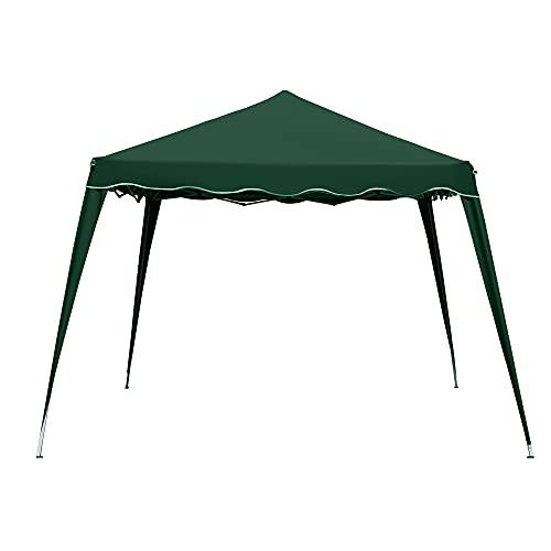 Rapid Teck® Pavillon 3x3m   wasserdicht   inkl. Tasche   Pop-Up Klicksystem   UV-Schutz 50+   Faltpavillon   Gartenzelt   Partyzelt   Metall-Verstrebungen   Grün
