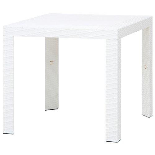 不二貿易 ガーデン ステラテーブル プラスチック 80×80cm ホワイト