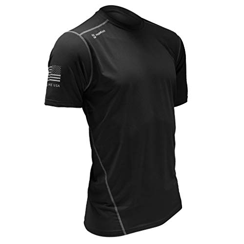 MudGear Fitted Race Jersey Short Sleeve - Performance Fabric Shirt for a Mud Run and Outdoor Sports (Large, Black)
